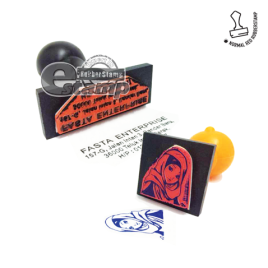 Red Rubber Stamp 2555